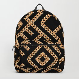 Wrapped in Luxury Golden Chain Ornate Maze Backpack