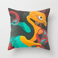 suits Throw Pillows featuring Phoenix Suits by SADOstyle