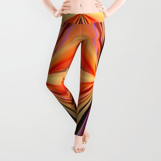 Artistic colourful abstract butterfly Leggings