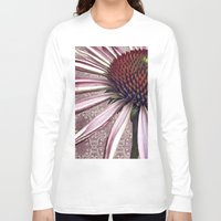 chic Long Sleeve T-shirts featuring coneflower chic by inourgardentoo