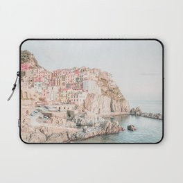 Positano, Italy Amalfi coast pink-peach-white travel photography in hd Laptop Sleeve