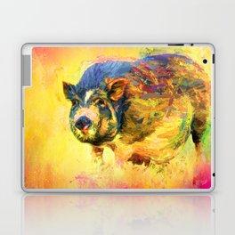 Jazzy Pig Colorful Animal Art by Jai Johnson Laptop & iPad Skin