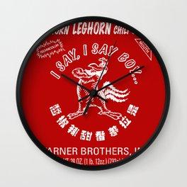 Foghorn Leghorn Sauce (White) Wall Clock