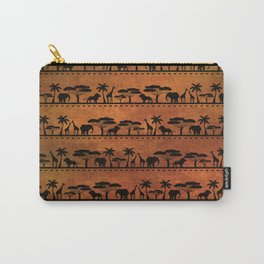 African Animal Pattern Carry-All Pouch