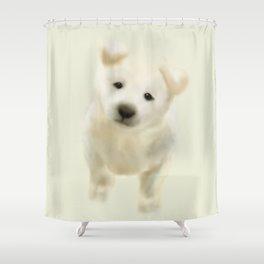 Jindo puppy Shower Curtain