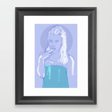 recent self portrait Framed Art Print