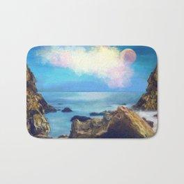 Artistic Landscape Ocean Painting Impressionist Bath Mat