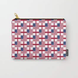 Mix of flag : Usa and england Carry-All Pouch