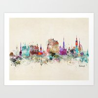 scotland Art Prints featuring edinburgh scotland by bri.buckley