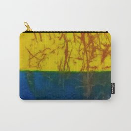 Yellow Blue Metal Carry-All Pouch