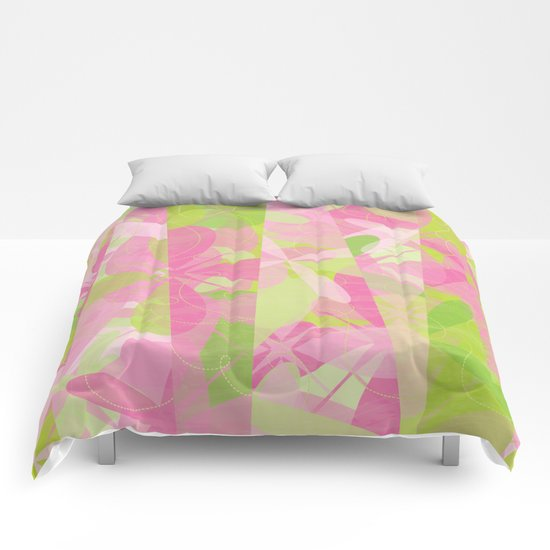 Abstract pattern - Spring Garden Comforters