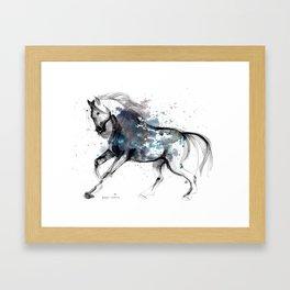 Horse (Storm) Framed Art Print