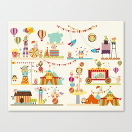 Circus of Munchy Monsters Canvas Print