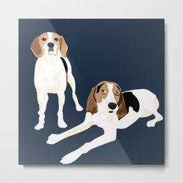 Tree Walker Coonhounds Metal Print
