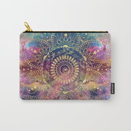 Gold watercolor and nebula mandala Carry-All Pouch