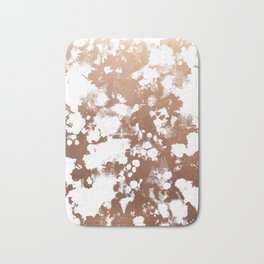 Rose Gold shiny metal sparkle modern pattern abstract rosegold trendy pattern cell phone accessories Bath Mat