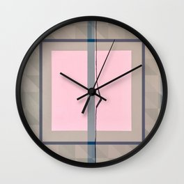 In the Pink - geometric graphic Wall Clock