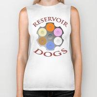 reservoir dogs Biker Tanks featuring Reservoir Dogs, Tarantino, Illustration by pathos_design
