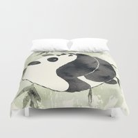 yin yang Duvet Covers featuring Yin Yang by Sah Matsui