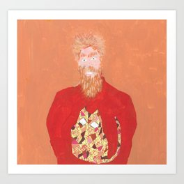 Hey Mate, check out my jumper! Art Print