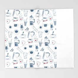 Coffee addict Throw Blanket