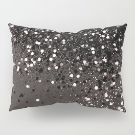 Blush Gray Black Lady Glitter #2 #shiny #decor #art #society6 Pillow Sham