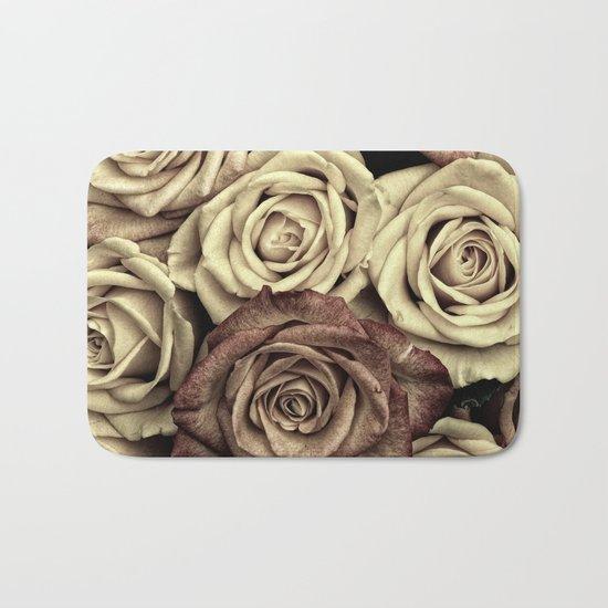 Brown Roses Bath Mat