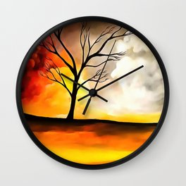 Warm Afternoon Wall Clock