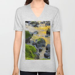 Grizzly Creek In The Fall Unisex V-Neck