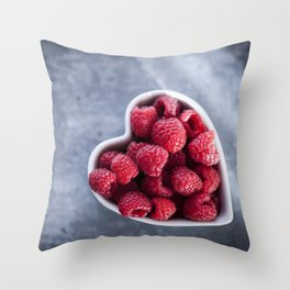 Raspberries for a Healthy Heart Throw Pillow
