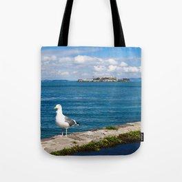 Seagull in San Francisco Tote Bag