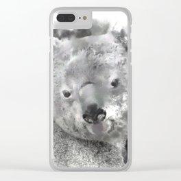 Animals and Art - Koala Bear Clear iPhone Case