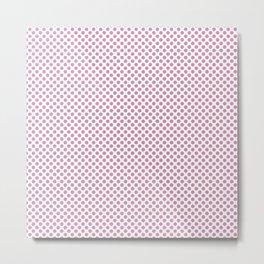 Moonlight Mauve Polka Dots Metal Print