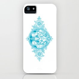 Holy Family [Pacific Blue] - white bkg iPhone Case