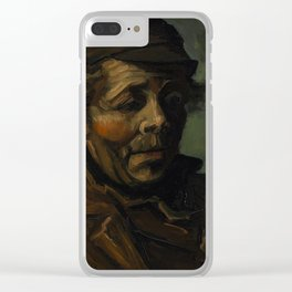 Vincent Van Gogh Head Of A Peasant Clear iPhone Case