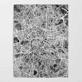 London England Street Map Poster
