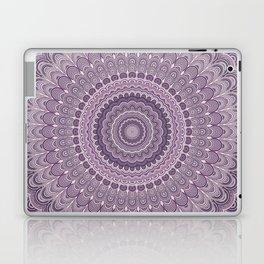 Purple feather mandala Laptop & iPad Skin