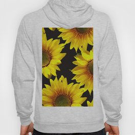 Large Sunflowers on a black background #decor #society6 #buyart Hoody