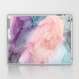 Dark and Pastel Ethereal- Original Fluid Art Painting Laptop & iPad Skin
