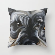 Peter the Schnauzer Throw Pillow