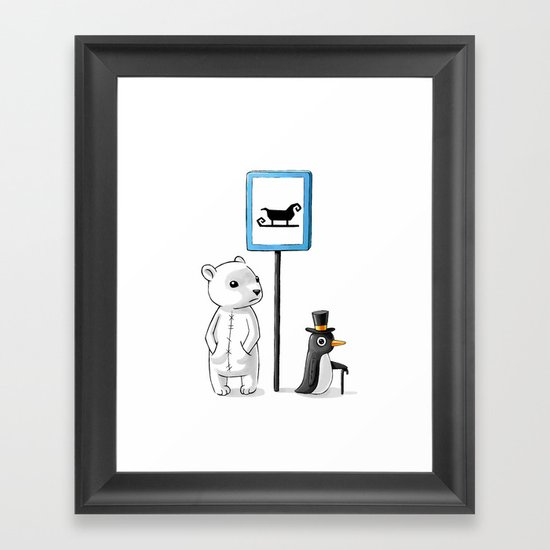 School Stop Framed Art Print