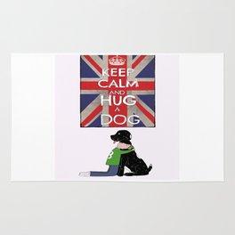 Keep Calm and Hug a Dog Rug