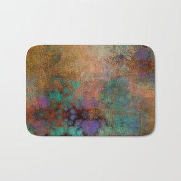 Bronze, Teal and Purple Abstract Bath Mat