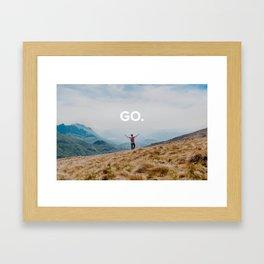 Go - Travel Photo Framed Art Print