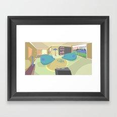The livingroom Framed Art Print