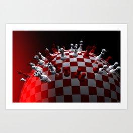 chess fantasy red Art Print