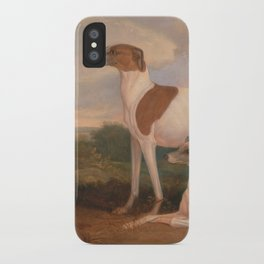 oil paintings of greyhounds iPhone Case