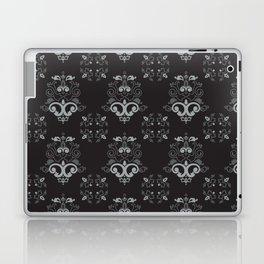 Black and Silver Damask Laptop & iPad Skin