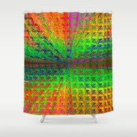 psychedelic Shower Curtains featuring Psychedelic by Debbie Clayton