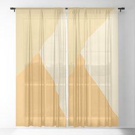 Yellow Geometric Sheer Curtain